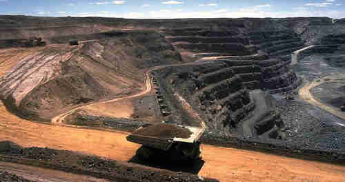 Mongolia's Oyu Tolgoi open-pit copper mine in South Gobi desert