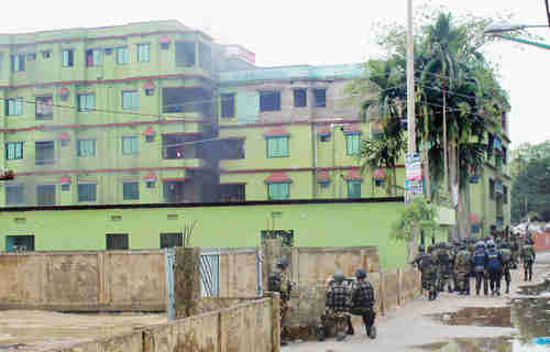 Apartment building in Sylhet were terror attack took place (ISPR)