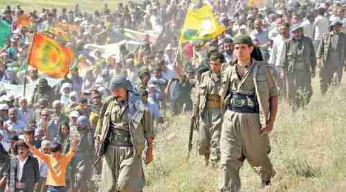 Members of the outlawed Kurdistan Workers' Party (PKK)