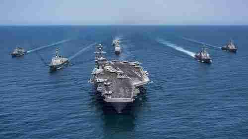 USS Carl Vinson aircraft carrier strike group (Reuters)