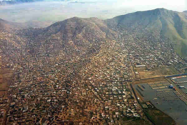 Aerial view of Kabul, Afghanistan (UN)