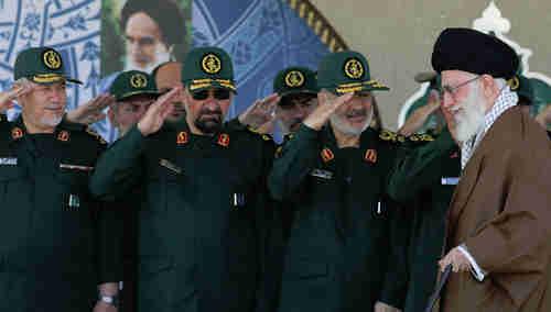 Iran's IRGC generals salute Supreme Leader Khamenei