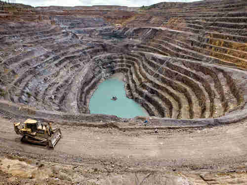 Mining operation in DRC