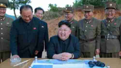 Child dictator Kim Jong-un beams with delight over Saturdays ballistic missile test