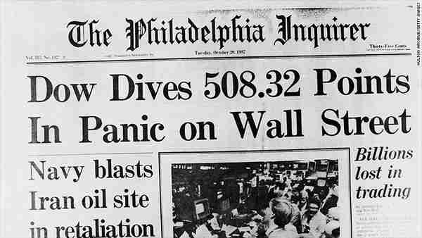 The Philadelphia Inquirer on October 20, 1987, after Black Monday