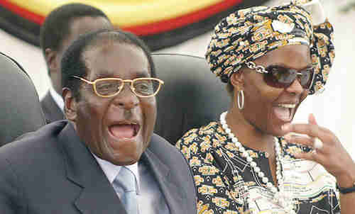 Robert and Grace Mugabe (AFP)