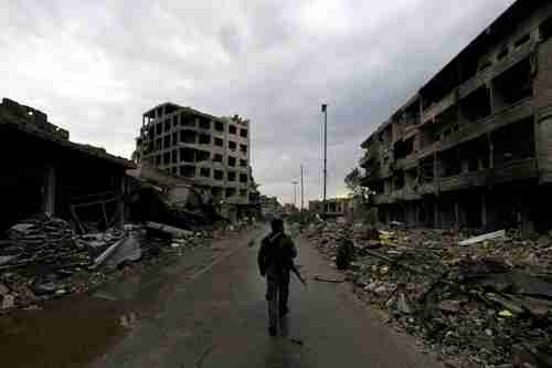 A picture of Raqqa taken on October 28 (AFP)