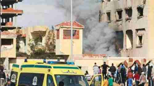 From November 2017: Rescue personnel at the site of the bomb blast at Al-Rawda mosque in North Sinai. (Gulf News)