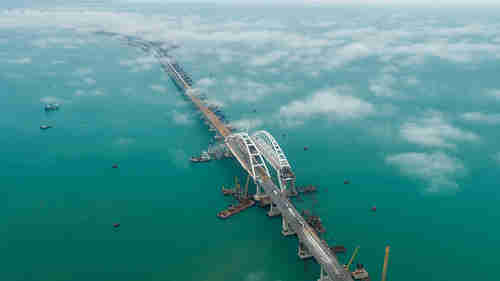 The bridge over Kerch Strait (Russia Today)