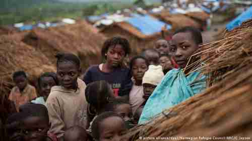 A refugee Congolese woman and children (dpa)