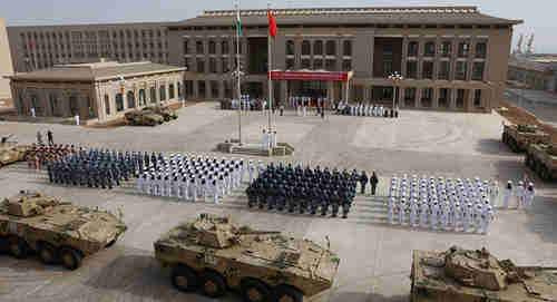Opening ceremony of China's military base in Djibouti, August 1, 2017 (AFP)