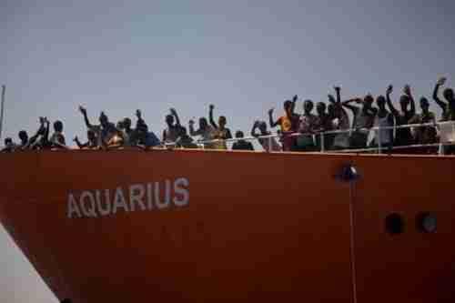 Migrants on the Aquarius (AP)