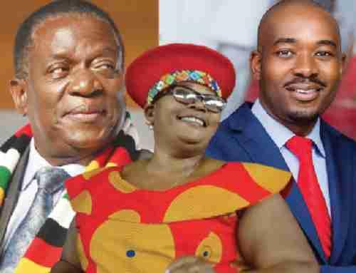 Three presidential candidates (L to R): Emmerson Mnangagwa, Joice Mujuru, Nelson Chamisa (Independent-zw)