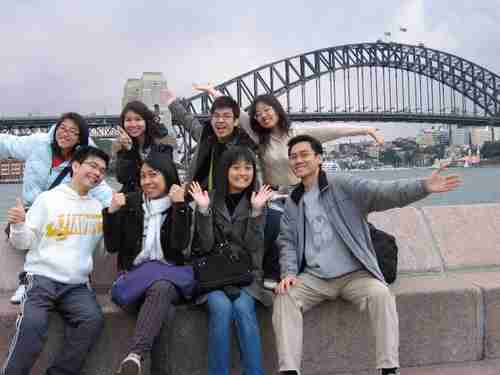 Chinese students in Sydney Australia