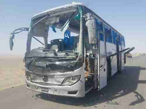 Result when bus carrying Chinese workers was attacked by a suicide bomber