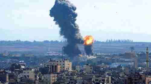 Smoke rises from an Israeli bombardment in Gaza on Saturday (AP)