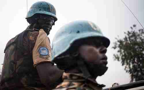 Tanzanian soldier in UN blue helmet peacekeeping mission in Central African Republic in July (AFP)