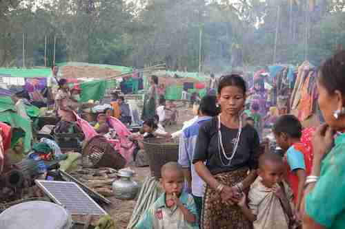 Ethnic Rakhine people in Myanmar (Getty)
