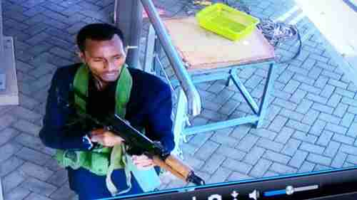 CCTV footage: A suspected assailant in the Nairobi hoel attack (Kenyans)