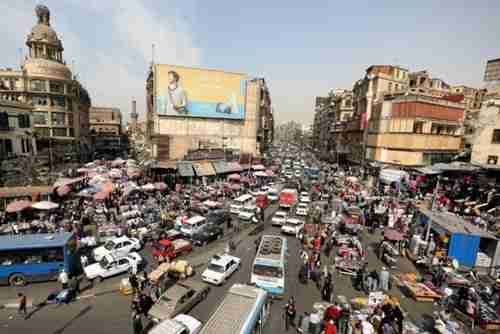 Downtown Cairo on March 9 (Reuters)