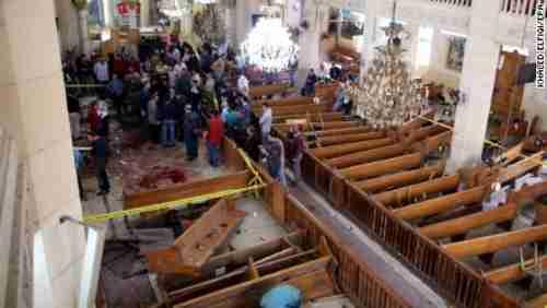 Church bombing in Tanta, Egypt, on Sunday