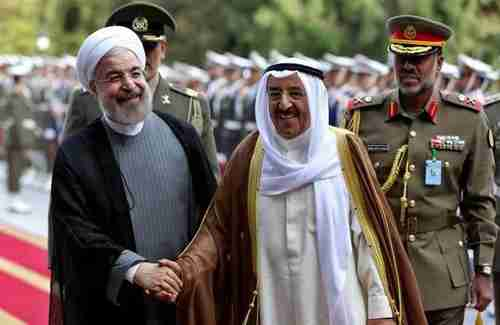 Iran's president Hassan Rouhani and Kuwait's Emir Shaikh Jaber Al Ahmad Al Sabah at a meeting in February of this year