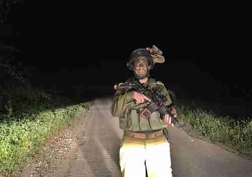 Israeli soldier on the Gaza border (Jerusalem Post)