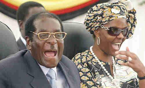 Robert and Grace Mugabe (AFP)