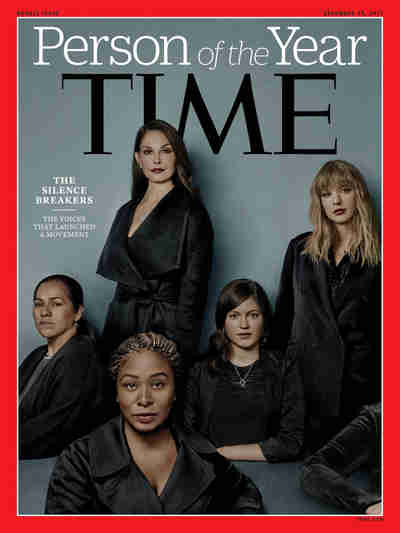 Time Magazine's funereal cover: Person of the Year 2017: the #MeToo Silence Breakers