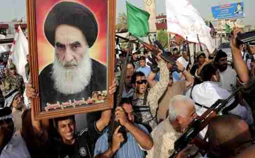 Ayatollah Ali al-Sistani issued a religious guidance that called on the Iraqi people to take up arms against ISIS in 2014. Tens of thousands of Shia people answered his call. (AFP)