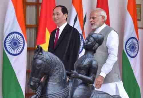 Vietnam's Tran Dai Quang visits Narendra Modi in New Delhi