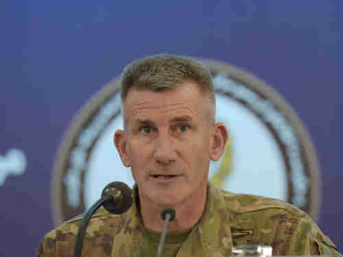 US Army General and commander of US forces in Afghanistan John Nicholson (AFP)