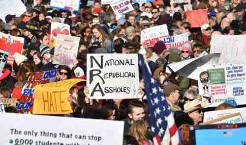 High-school students and their families in Washington on Saturday for the 'March for our Lives' (ZeroHedge)