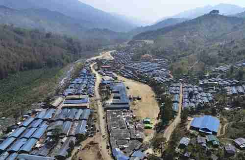 The Je Yang camp for Kachin refugees along China's border in Burma (AP)