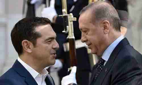 Alexis Tsipris and Recep Tayyip Erdogan meeting in Athens last December (AFP)