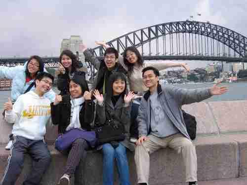 Chinese students in Sydney Australia
