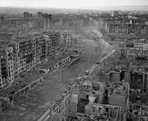 Grozny, Chechnya, after massive slaughter and destruction by Russians in 1999