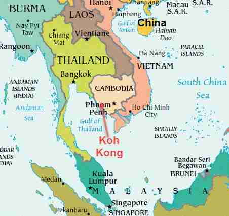 China is building a massive deep-water seaport project in Cambodia's Koh Kong province along the Gulf of Thailand