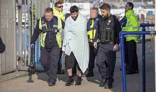 Migrants from France arriving in Dover, England, this week (SPLASH)