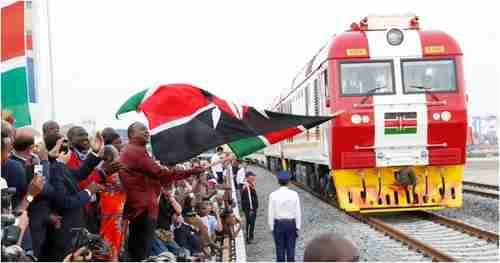 Celebrations at Kenya's Standard Gauge Railway (SGR). (Railway Gazeti)